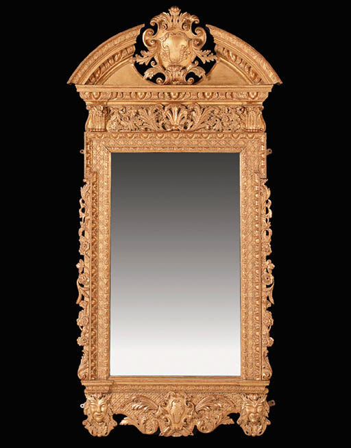 A GILTWOOD PIER GLASS