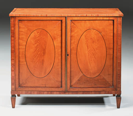 A TULIPWOOD AND SATINWOOD SIDE