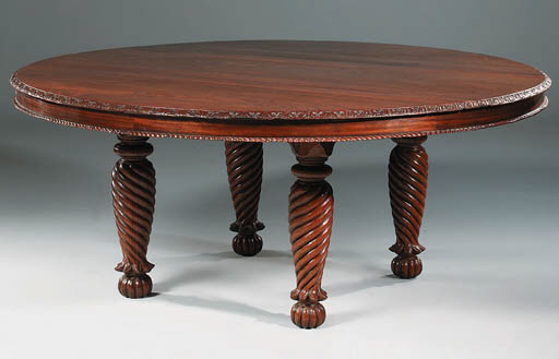 AN ANGLO-INDIAN ROSEWOOD TABLE