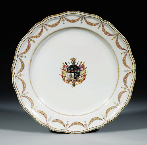 A FAMILLE ROSE ARMORIAL LARGE
