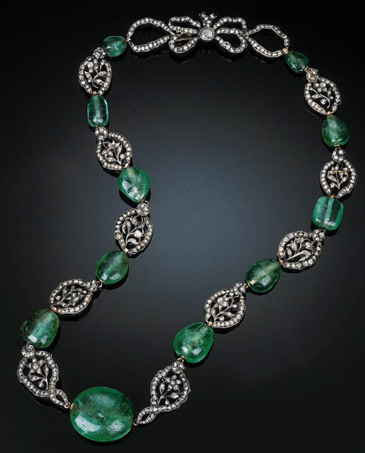 AN EARLY 19TH CENTUR EMERALD A