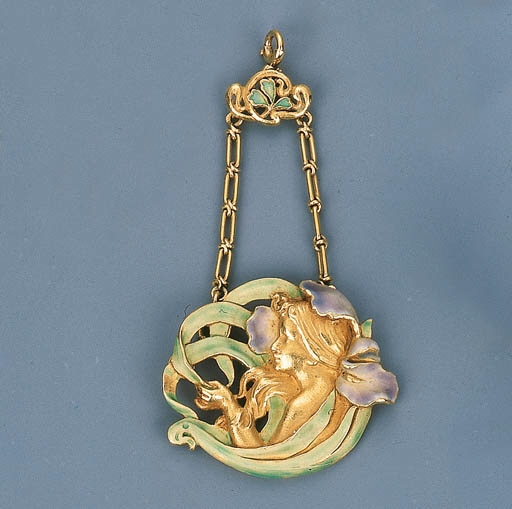 An Art Nouveau Coloured Enamel