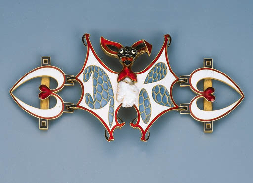 An Art Nouveau Enamel and Pear
