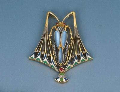 An Art Nouveau Gem-set and Ena
