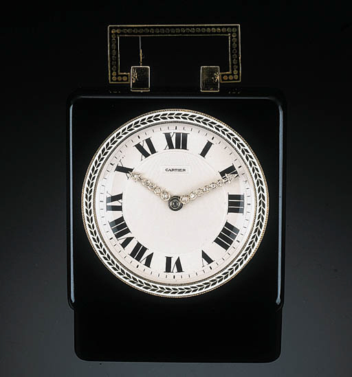 An Art Deco Enamel and Diamond