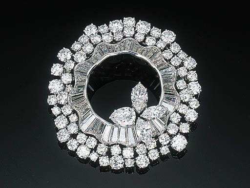 An Elegant Diamond Brooch by H