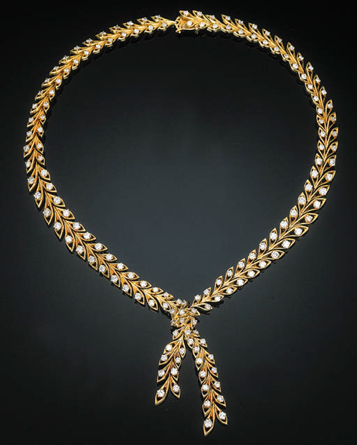 A Diamond-set Necklace by Cart
