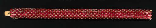 A Red Tourmaline Snake Bracele