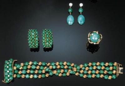 A Group of Jadeite and Diamond