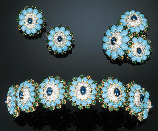 A Group of Turquoise, Sapphire