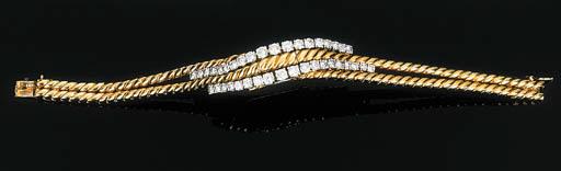 A DIAMOND-SET WRISTWATCH BRACE