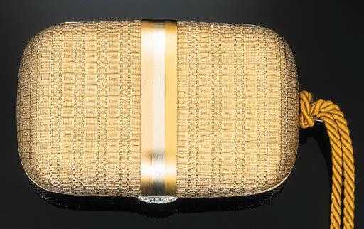 A Basket Weave Evening Bag wit
