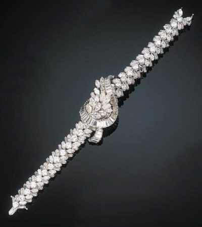 A Diamond Bracelet Watch