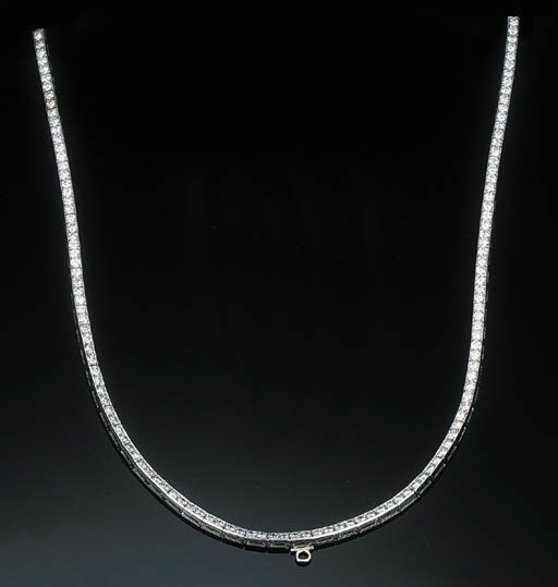 A Diamond Line Necklace by Van