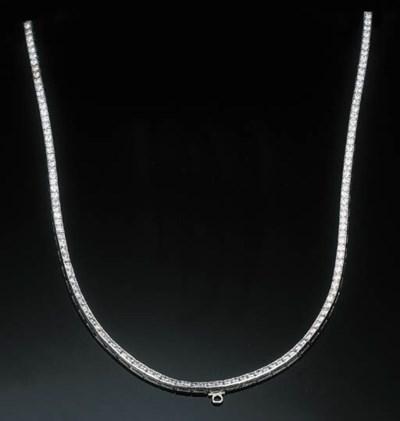 A Diamond Line Necklace by Van