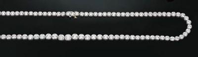 A Diamond Line Necklace by Tif