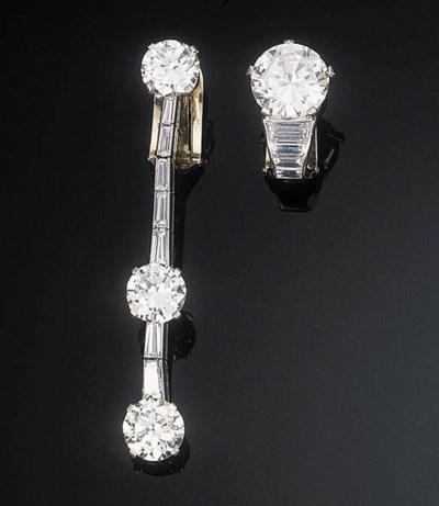 A Diamond Ear Clip and Ear Pen