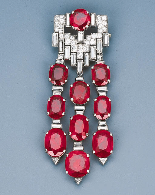 An Important Art Deco Ruby and