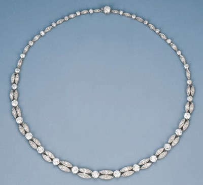 A Delicate Diamond Necklace by