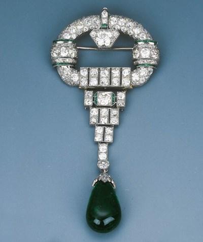 An Elegant Art Deco Diamond an