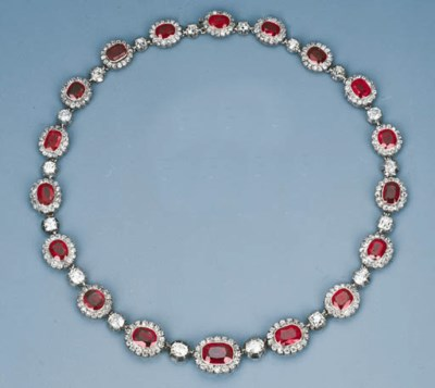 A Fine Antique Ruby and Diamon