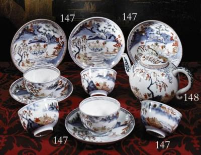 A Set of Imari Cups and Saucer