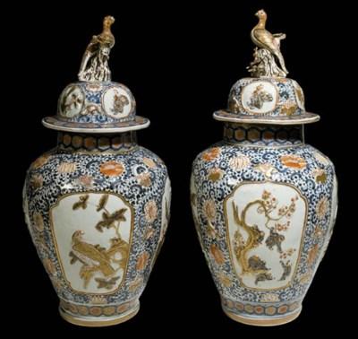 A Pair of Impressive Imari Vas