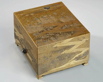 A FINE GOLD-LACQUERED WRITING-