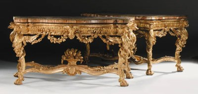 A PAIR OF ROMAN GILTWOOD SIDE