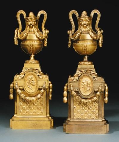 A PAIR OF LOUIS XVI ORMOLU CHE