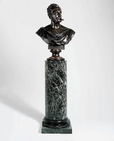 A bronze bust of Tsar Alexande