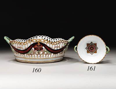 A porcelain fruit Basket from