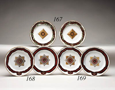 A pair of porcelain Plates fro