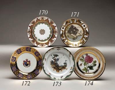A porcelain botanical Plate
