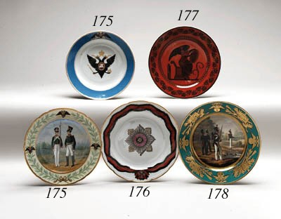 A porcelain military Plate