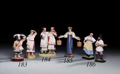 Two porcelain figures of a Str