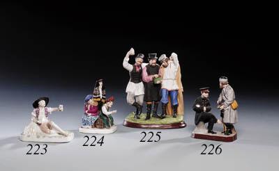 Three porcelain Groups of Drun