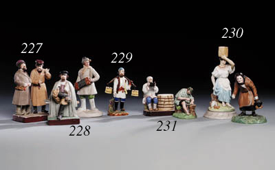 A porcelain Group of two Jews