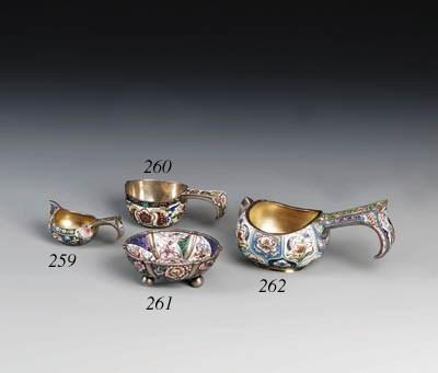 A silver-gilt cloisonn enamel