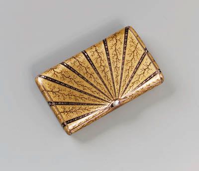 A gold guilloch enamel Cigaret
