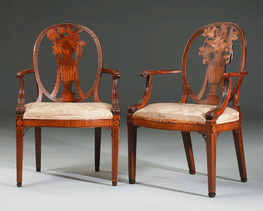A PAIR OF GEORGE III SATINWOOD