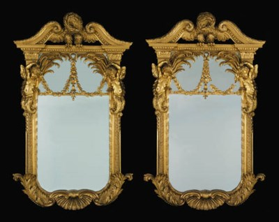 A PAIR OF EARLY GEORGE III GIL