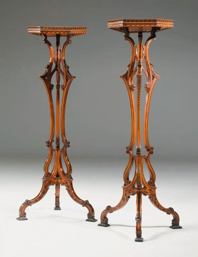 A PAIR OF MID-VICTORIAN SATINW