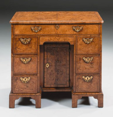 A GEORGE II BURR-WALNUT AND WA