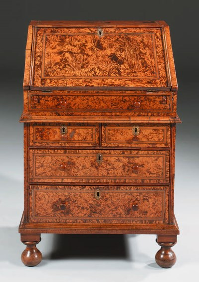 A GEORGE I PEWTER-INLAID STAIN