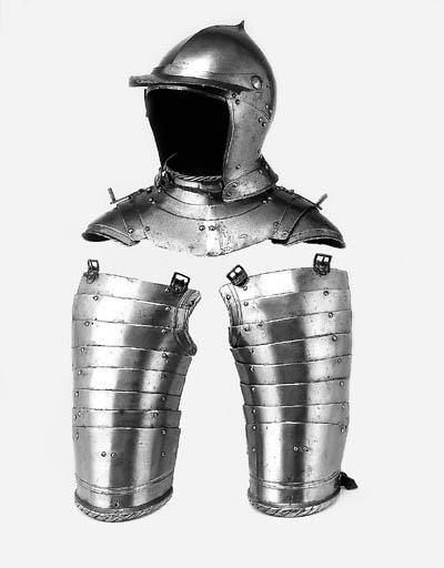 A Burgonet, Almain-Collar And