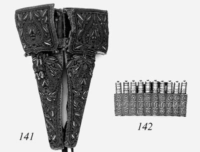 A Pair Of Saddle-Holsters For Flintlock Pistols