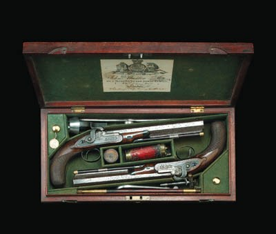 A Fine Cased Pair Of 44-Bore P