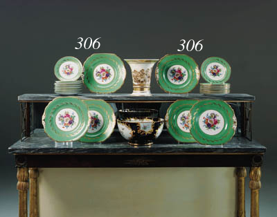 An English porcelain part gree
