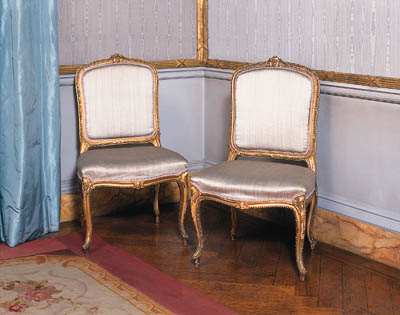 A SET OF FOUR GILTWOOD SIDE CH